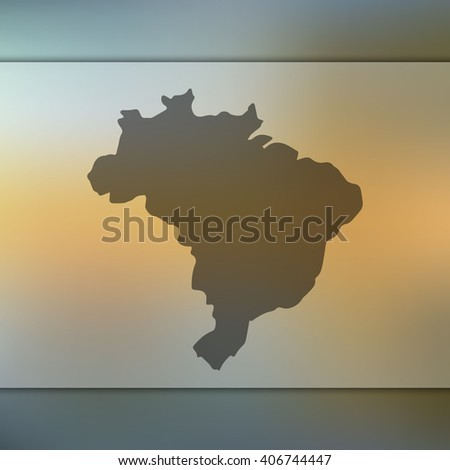 brazil map on blurred