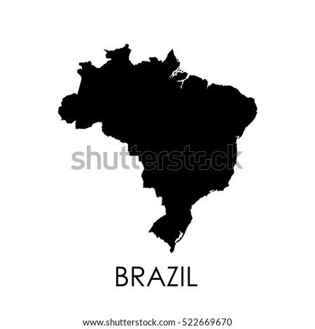 brazil map on white background