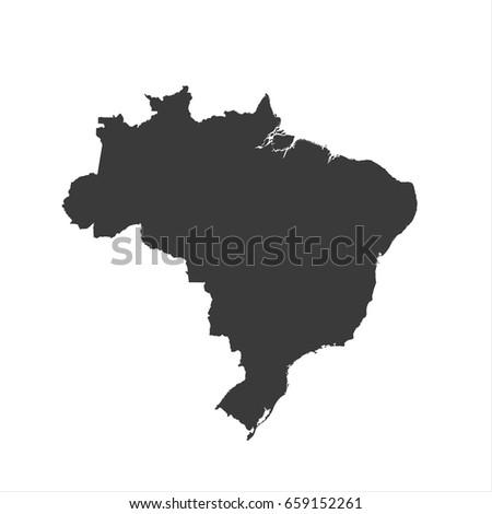 brazil map vector   brazil map