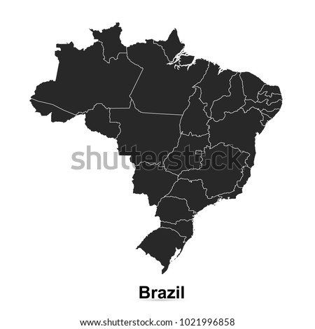 Brazil map. vector illustration.