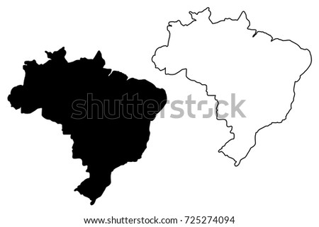 Brazil Doodle Icon Download Free Vector Art Stock Graphics Images - Brazil map illustration