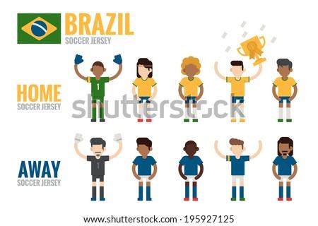 brazil soccer team charactor