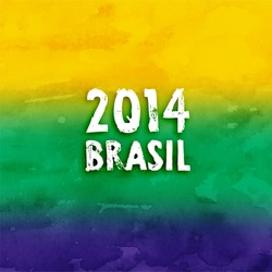Brazil Summer 2014 Vector Water Color Background