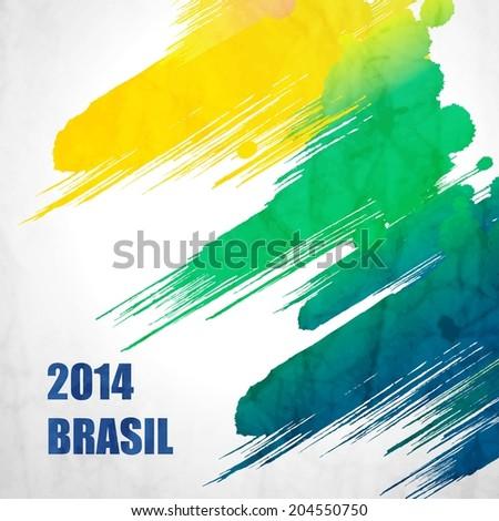 brazil summer 2014 vector water