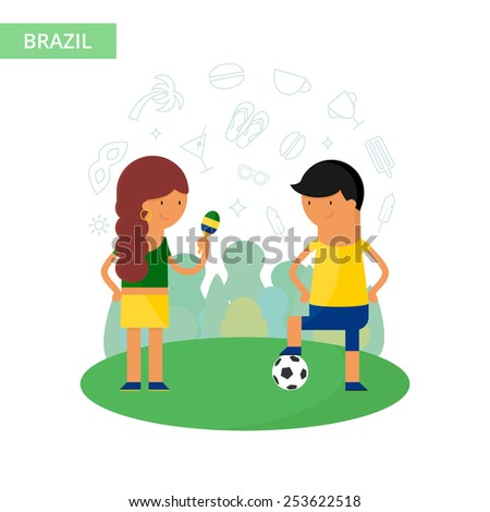 brazil travel vector