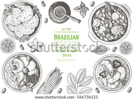 brazilian cuisine top view...