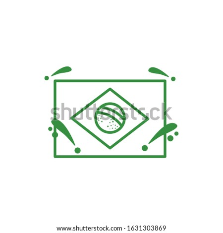 brazilian flag country isolated icon vector illustration design