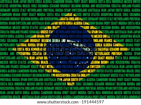 brazilian flag made out of team