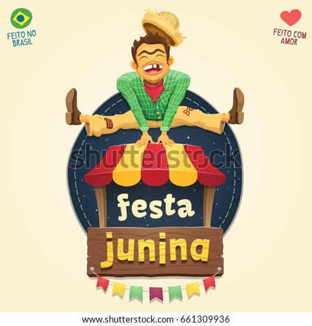 brazilian june party style logo