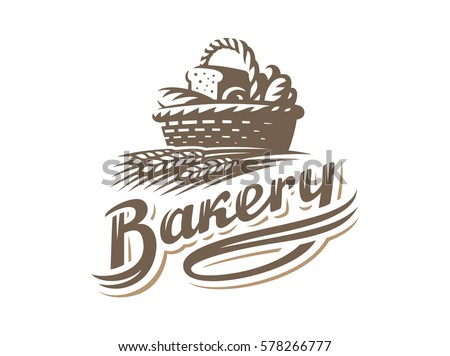 bread basket logo   vector...
