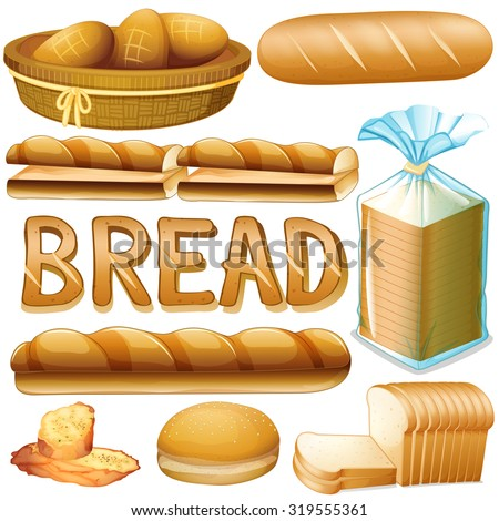 bread in various kinds