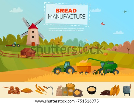 bread manufacture poster with