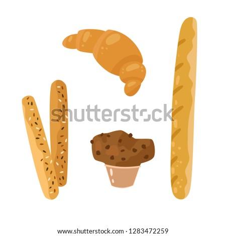 bread sticks  baguette  muffin