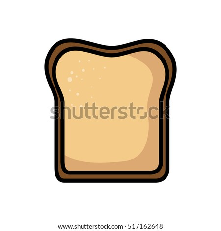 bread toast isolated icon
