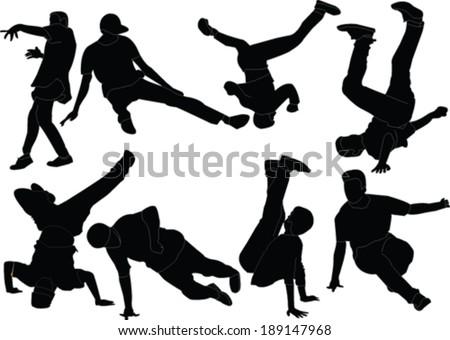 break dance collection   vector