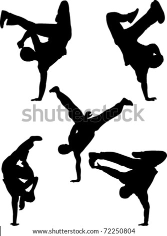 break dancers  collection vector
