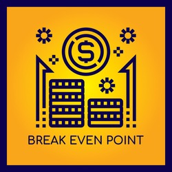 Break Even Point,Thin line and pixel perfect icon.