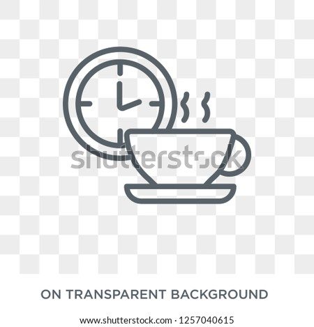 Break icon. Break design concept from  collection. Simple element vector illustration on transparent background.