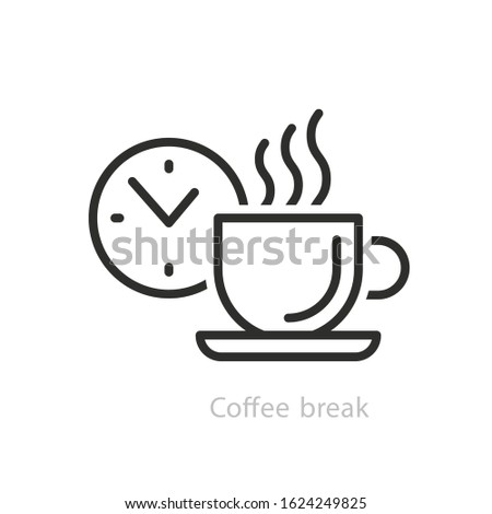 Break icon. Break design concept from collection. Simple element vector illustration on transparent background