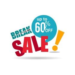 break sale discount vector business promotion