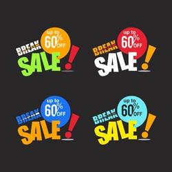 break sale discount 60 vector business promotion
