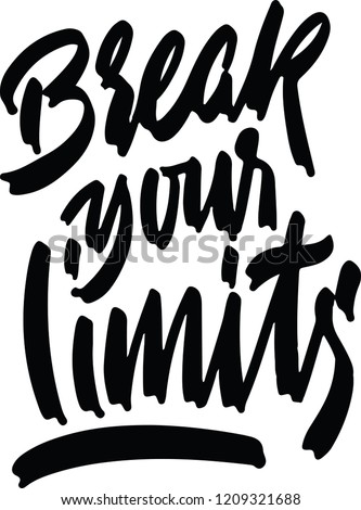 break your limits card ink