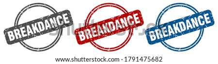 breakdance round isolated label sign. breakdance stamp ストックフォト ©