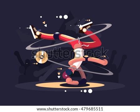 breakdancer dancing on stage