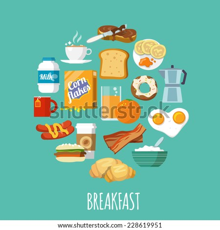 breakfast concept with fresh
