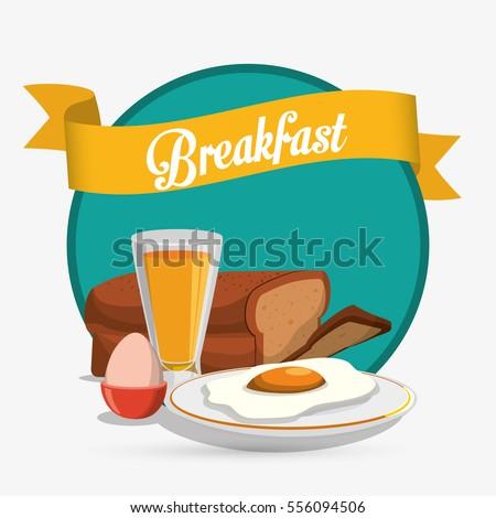 breakfast eggs juice bread