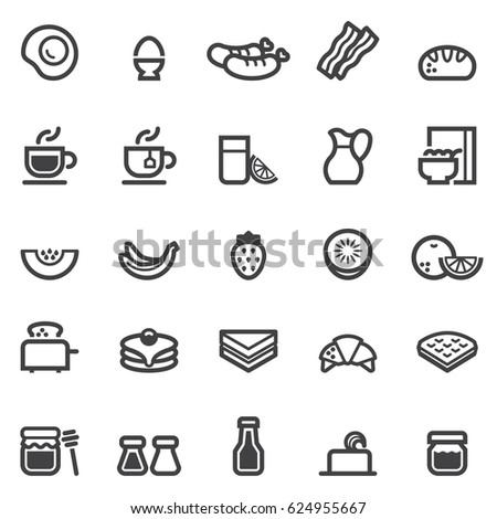 Breakfast Icons
