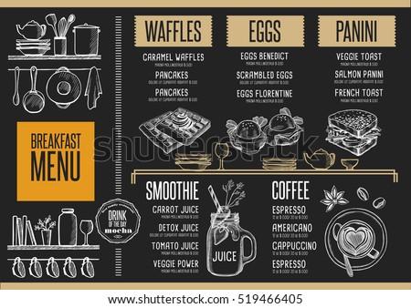 vector breakfast menu download free vector art stock graphics