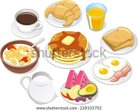 breakfast menu  vector