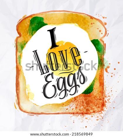breakfast painted watercolor