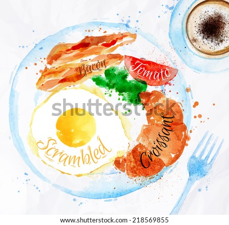 breakfast painted with