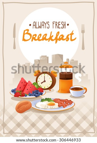 breakfast poster with egg