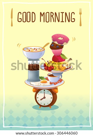 breakfast poster with eggs