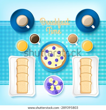 breakfast time background