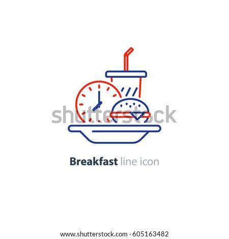 breakfast time  fast food order