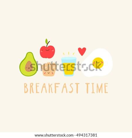 breakfast time super cute