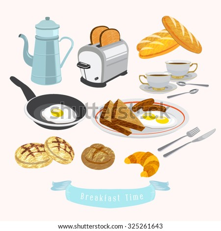 breakfast vector design