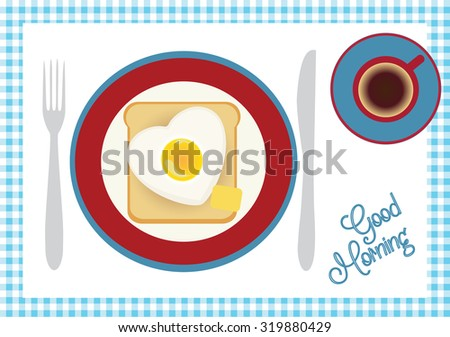 breakfast with coffee  toast