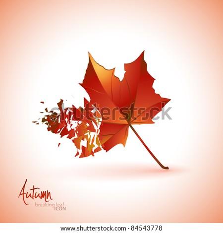Breaking leaf icon | background. Vector illustration.