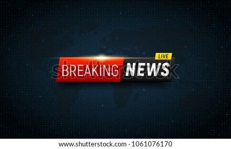 Breaking News Background Vector Template For Your Design