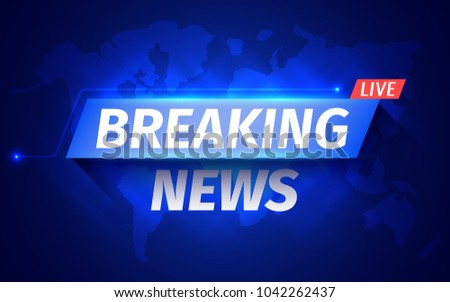 Breaking news banner background with world map download free breaking news background with world map vector illustration gumiabroncs Image collections