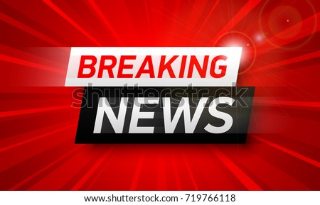 Breaking news background, World Global TV news banner design vector illustration