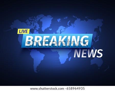breaking news background world
