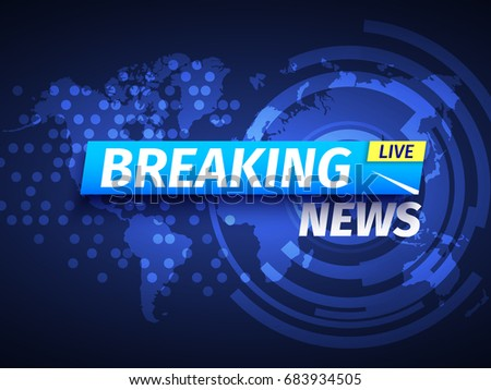 Breaking news banner background with world map download free breaking news background world map vector illustration gumiabroncs Image collections