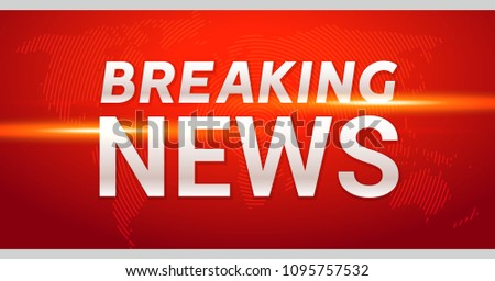Breaking News Broadcast Concept Design Template For Channels Or Internet Tv Background