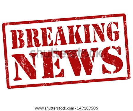 Breaking news grunge rubber stamp,vector illustration